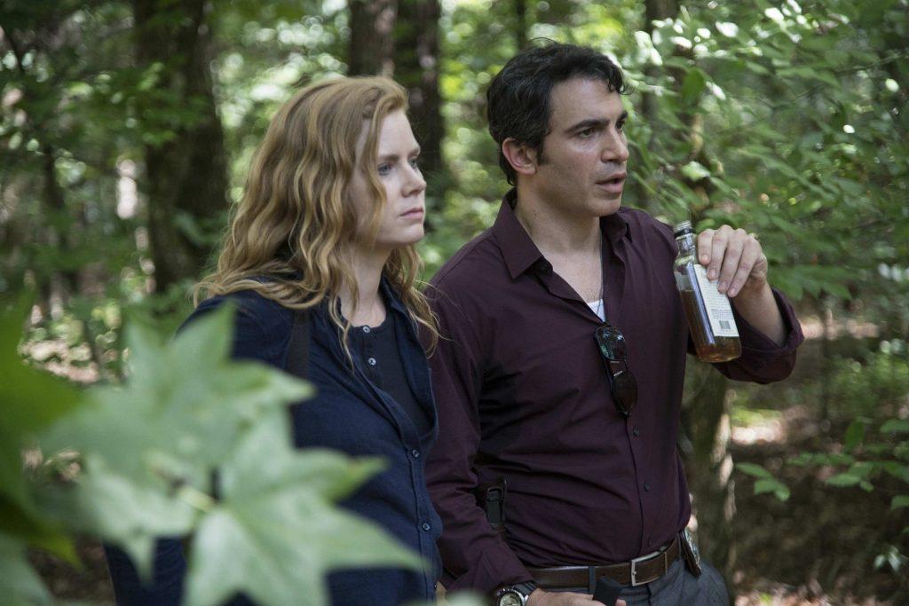 """Amy Adams thủ vai chính Camille Preaker trong """"Sharp Objects"""", cùng bạn diễn Chris Messina."""