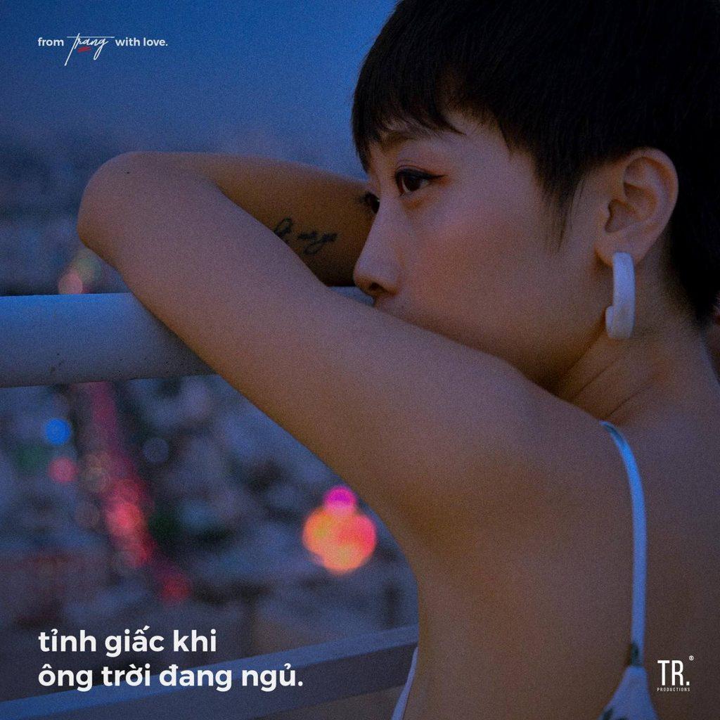 Bìa album Tỉnh giấc khi ông trời đang ngủ của Trang.